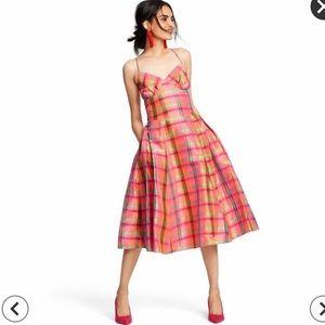 Plaid Silk Dress - Isaac Mizrahi for Target.